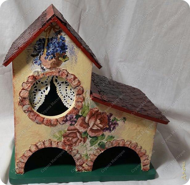 Давно хотела поработать с деревянной заготовкой, и вот для этой цели выбрала чайный домик фото 13