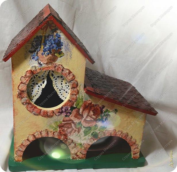 Давно хотела поработать с деревянной заготовкой, и вот для этой цели выбрала чайный домик фото 16