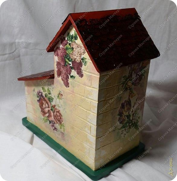 Давно хотела поработать с деревянной заготовкой, и вот для этой цели выбрала чайный домик фото 12