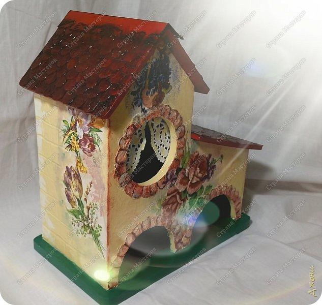 Давно хотела поработать с деревянной заготовкой, и вот для этой цели выбрала чайный домик фото 1