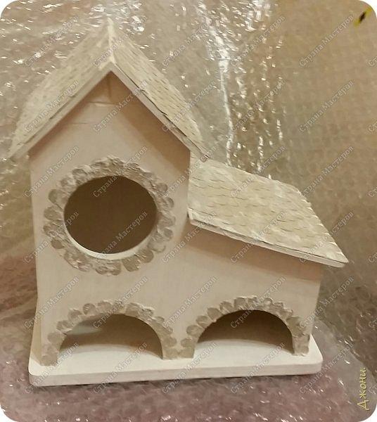 Давно хотела поработать с деревянной заготовкой, и вот для этой цели выбрала чайный домик фото 4