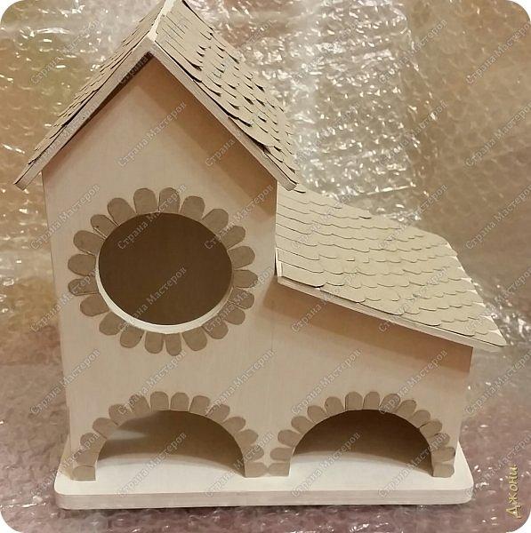 Давно хотела поработать с деревянной заготовкой, и вот для этой цели выбрала чайный домик фото 3
