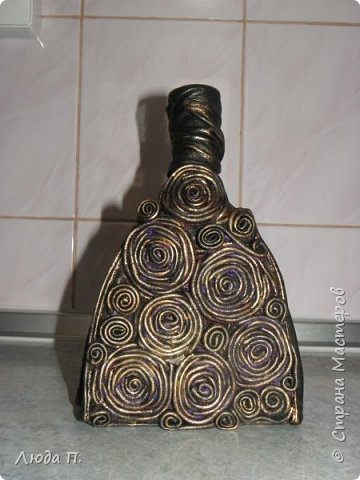 Здраствуйте,Мастера! Предлагаю Вашему вниманию свои новые работы- кожаные бутылки. Спасибо за внимание и приятного просмотра! фото 8