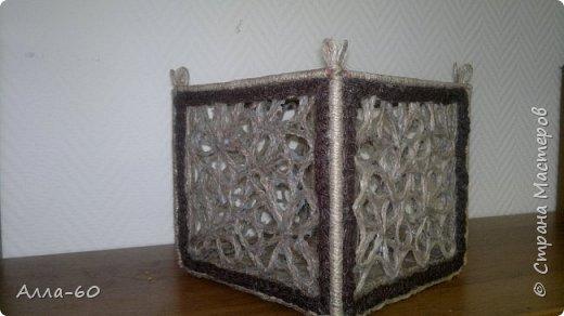 Коробка для пряжи сделана из джутовой нити! фото 1