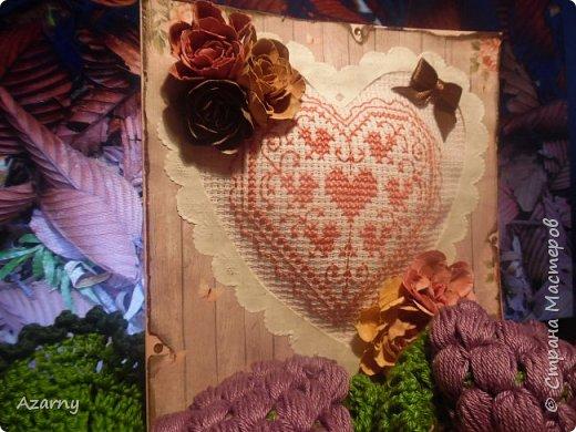 Открытки с вышивкой и вязанными элементами  фото 2