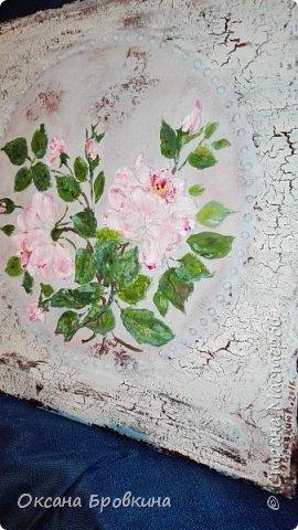 """Объемное панно """"Розы"""" фото 2"""