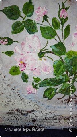 """Объемное панно """"Розы"""" фото 3"""