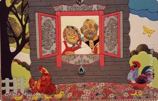 """Здравствуйте, уважаемые жители Страны Мастеров! Сегодня я покажу вам сюжет из сказки """" Курочка Ряба"""" и Петушка. Планировала сделать конкурсную работу. Но... Планы поменялись. фото 1"""