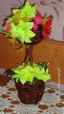 Газетные трубочки корзиночка . цветы покупные . фото 5