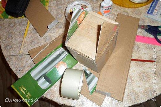 """Здравствуйте! Сегодня с проектом """"Снежный город"""" и рассказом, как сделать домик из подходящей картонной коробки. Вначале фото. На первом фото домик из фанеры. Был у меня небольшой кусочек фанеры 40 на 70 см. Вот что получилось.  фото 17"""