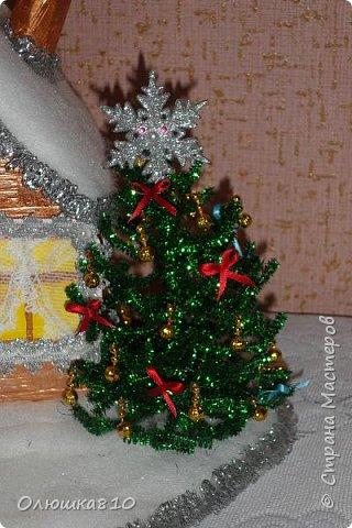 """Здравствуйте! Сегодня с проектом """"Снежный город"""" и рассказом, как сделать домик из подходящей картонной коробки. Вначале фото. На первом фото домик из фанеры. Был у меня небольшой кусочек фанеры 40 на 70 см. Вот что получилось.  фото 6"""
