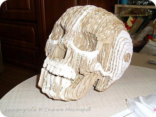 увидела череп в 3 d  в интернете.захотелось попробовать сделать ...вот что получилось фото 6