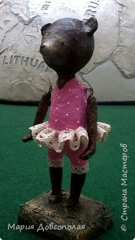 Мишенька (она):-) папье-маше, высота 30см. фото 1