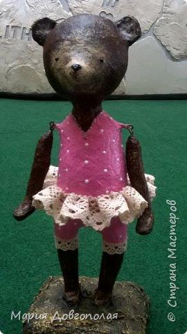 Мишенька (она):-) папье-маше, высота 30см. фото 2