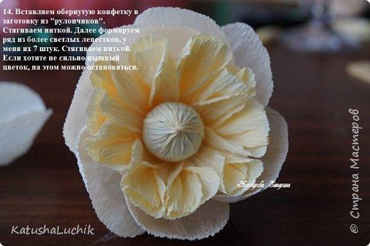 Дорогие мастерицы! Хочу поделиться с вами, как я делала пионовидную розу. На ютубе нашла ролик с мк розы такого типа из фоамирана и адаптировала под свит. Вот что получилось.  фото 16