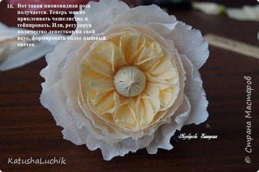 Дорогие мастерицы! Хочу поделиться с вами, как я делала пионовидную розу. На ютубе нашла ролик с мк розы такого типа из фоамирана и адаптировала под свит. Вот что получилось.  фото 18
