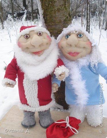 Скоро-скоро Новый год!Волшебный праздник!Создалась и у меня новогодняя парочка))) Дед Мороз какой -то молоденький получился,мне кажется фото 2