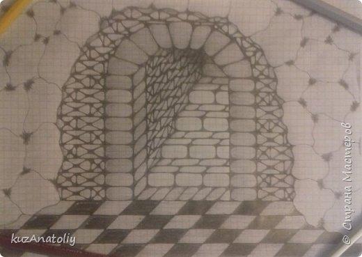 Как нарисовать крепость - тайный ход