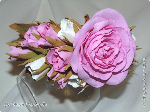 Фоторамка с розами, первая работа фото 2