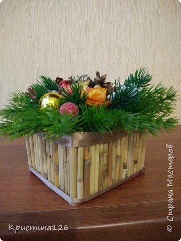Решила сделать в подарок подружке на рабочий стол Новогоднюю композицию фото 3