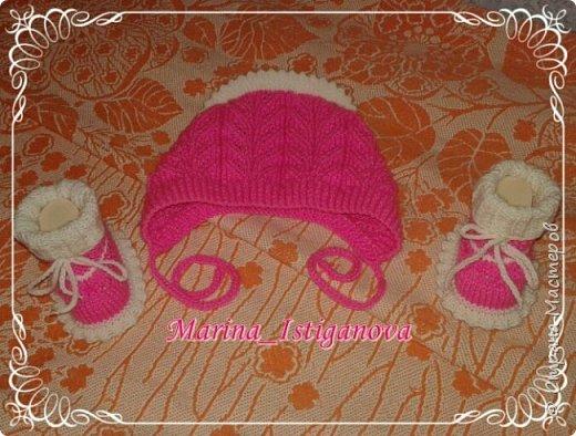 Ажурный розовый костюм фото 11
