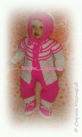 Ажурный розовый костюм фото 2