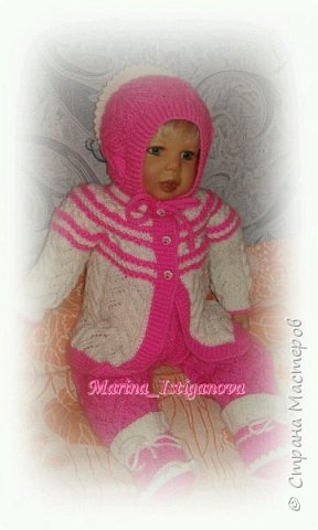 Ажурный розовый костюм фото 3