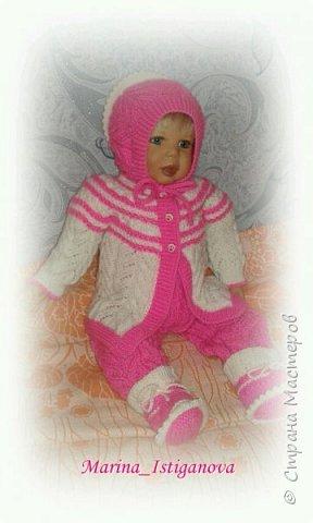 Ажурный розовый костюм фото 4
