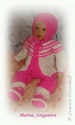 Ажурный розовый костюм фото 1