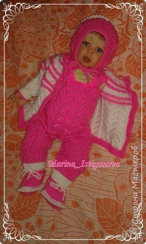 Ажурный розовый костюм фото 5