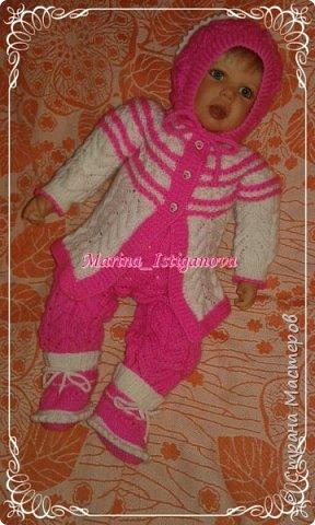 Ажурный розовый костюм фото 6