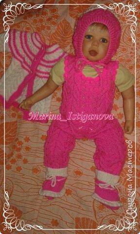 Ажурный розовый костюм фото 7