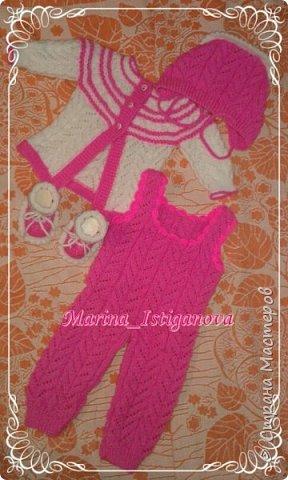 Ажурный розовый костюм фото 8
