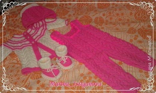 Ажурный розовый костюм фото 9