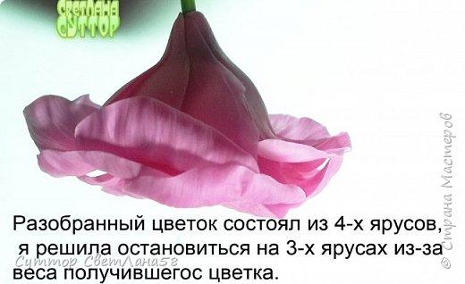 Цветок эустомы из холодного фарфора без молда и каттеров фото 27