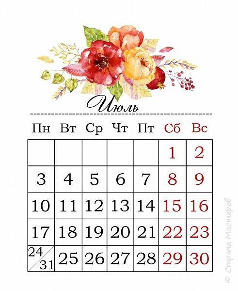Настольный календарь на 2017 год, размер 10*18 см. фото 11