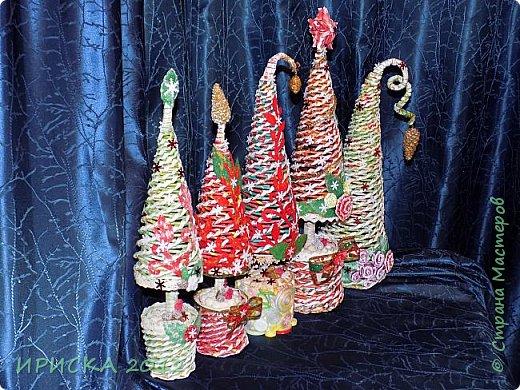 Привет всем!!! Сегодня я к Вам с новогодними ёлочками!!! Заготовки уже неделю стояли и дожидались своего часа. фото 2