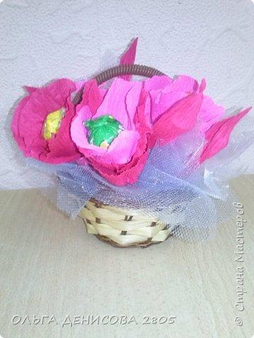 Вот такой букетик  сделала Анечка Сычёва, 8 лет, для мамы на День Матери фото 1