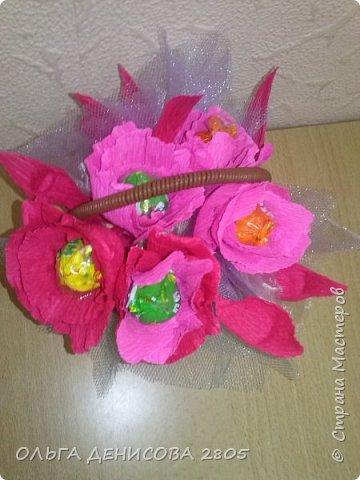 Вот такой букетик  сделала Анечка Сычёва, 8 лет, для мамы на День Матери фото 2