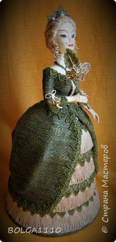 Кукла шкатулка на заказ. Попросили с маской. Платье я поменяла, мне кажется так лучше. фото 4