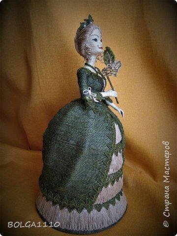 Кукла шкатулка на заказ. Попросили с маской. Платье я поменяла, мне кажется так лучше. фото 1