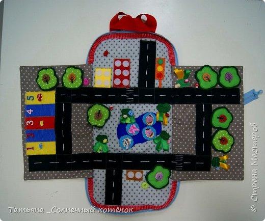 Игровой рюкзачок-коврик для машинок фото 1