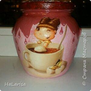 Доча попросила сделать баночку под кофе. Вот такое навоялось))) фото 1