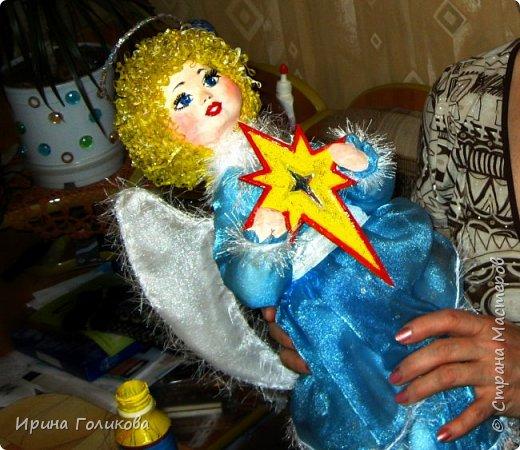 """Перед Новогодними праздниками я решилась представить свою работу """"Ангел мой"""". Это игрушка на большую заводскую елку (не помню уже, в каком году это было). Как я уже говорила, на заводе проводились ежегодные конкурсы на лучшую игрушку. Возилась я с ней долго, особенно с головкой, т.к. никогда до этого не занималась папье-маше. Кропотливая это работа, скажу я вам... фото 1"""