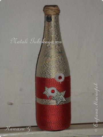 Декор бутылок (разные)-7 фото 2