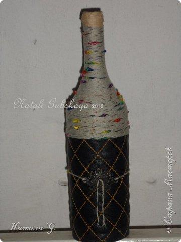Декор бутылок (разные)-7 фото 9