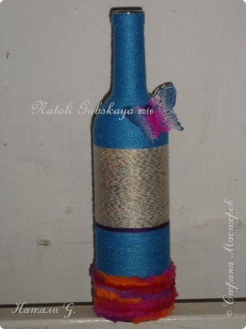 Декор бутылок (разные)-7 фото 8