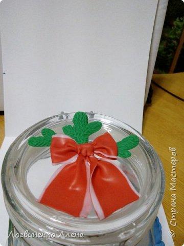 Баночка для конфеток или печенюшек и ложечки, как мне представляется для горячего шоколада)))) фото 4