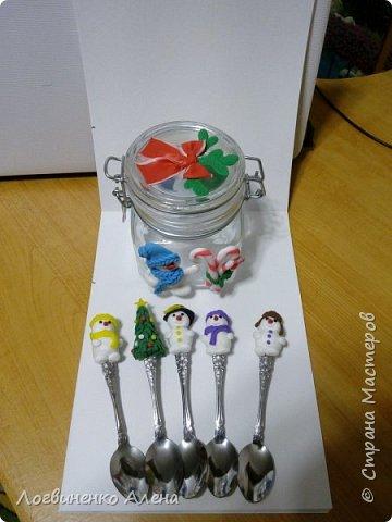 Баночка для конфеток или печенюшек и ложечки, как мне представляется для горячего шоколада)))) фото 1