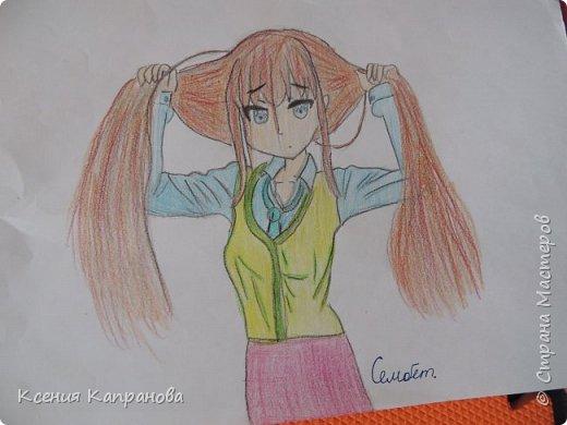 Всем всем всем приветик.Сегодня я расскажу о аниме.Она очень модная и красивая.Кстати  её зовут Сара.Ей 17.Любит красоваться перед зеркалом.Одноклассники зовут её ,,Ходячая красотка,, фото 4